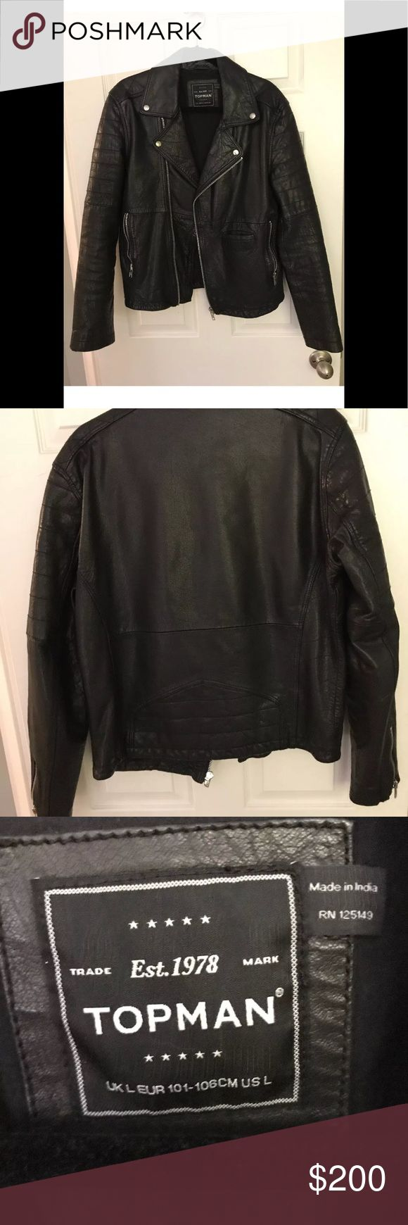 New Topman Leather Jacket Large Brand new without tags Topman Jackets & Coats