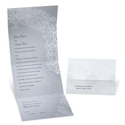 Beautiful Lace Seal and Send Wedding Invitation