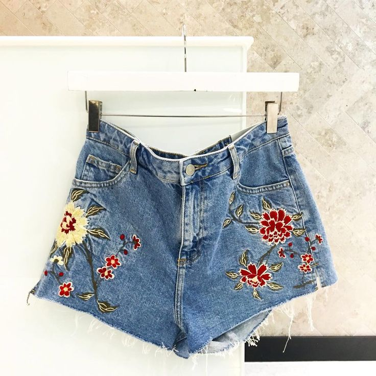 If it isn't embroidered we aren't interested  Personal Shopper Carla selects the Moto Mom shorts as her essential holiday pick. #Topshop
