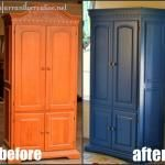 How to paint laminate furniture. I think I'll be doing this to my bedroom set once I decide I'm ready to take on another huge project!