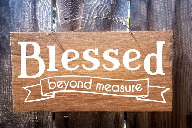 Blessed Beyond Measure Sign, Thanksgiving decor, autumn decor, fall decor, thanksgiving sign, holiday sign, fall sign by FarmhouseChicSigns on Etsy https://www.etsy.com/listing/201456500/blessed-beyond-measure-sign-thanksgiving