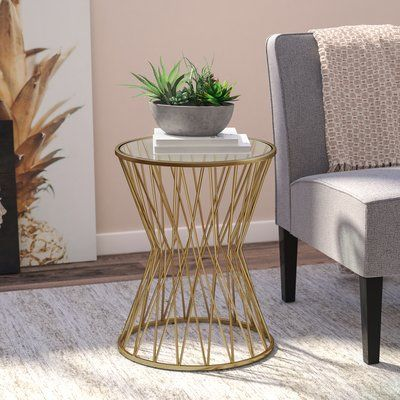 Wade Logan Carpendale End Table In 2021 End Tables Small Accent Tables Metal End Tables