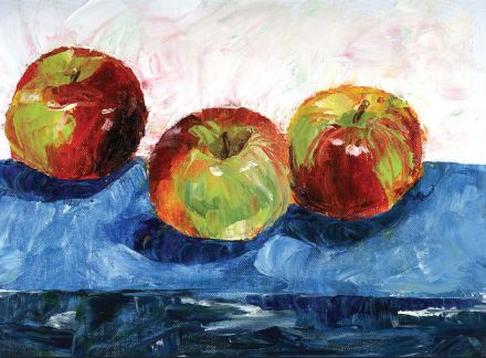 Lovely oil painting of apple   www.drawing-made-easy.com   #oilpainting #apple