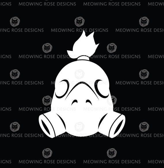 Road Hog  Overwatch  vinyl decal for laptops by MeowingRoseDesigns