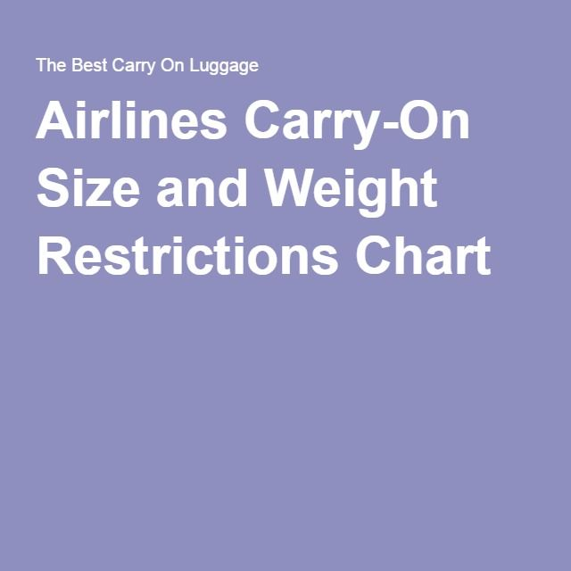 1000 Ideas About Airline Carry On Size On Pinterest