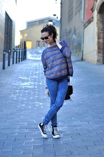 black converse jeans