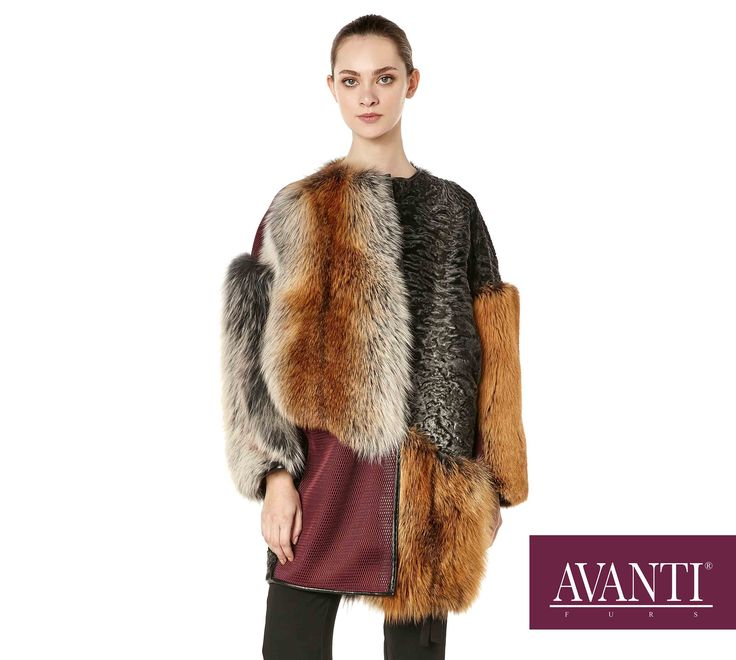 AVANTI FURS - MODEL: P-BASEBALL FOX-SWAKARA JACKET with Leather, Cashmere and Net textile #avantifurs #fur #fashion #fox #luxury #musthave #мех #шуба #стиль #норка #зима #красота #мода #topfurexperts