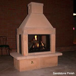 The Perfect Outdoor Fireplace Kit- Great combination Outdoor Fireplace/Fireplace Grill