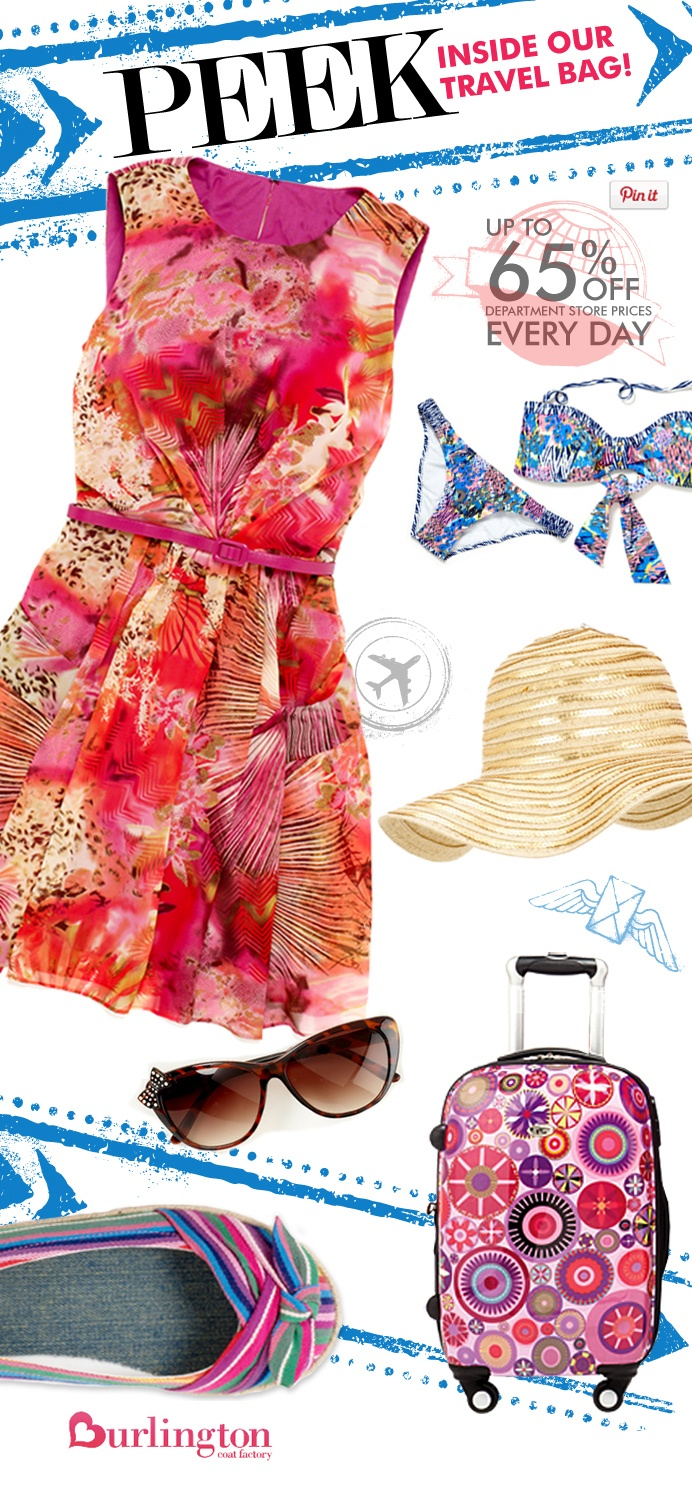 Summer Vacation Travel Essentials - I love Burlington Coat Factory - it is one of my favorite stores for summer fashion~ Linda