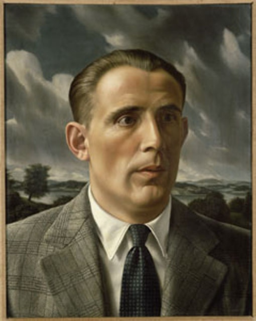 Self-Portrait by Carel Willink (1900-1983). Like that checked jacket & the slicked back hair.