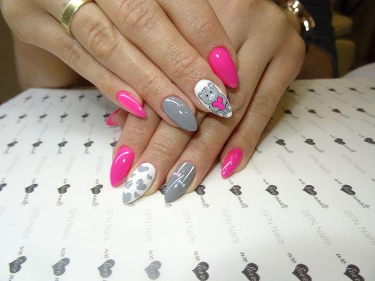 SPN Nails UV laq Night in Miami, Shade of Grey, wedding dress, i ręcznie malowane zdobienia