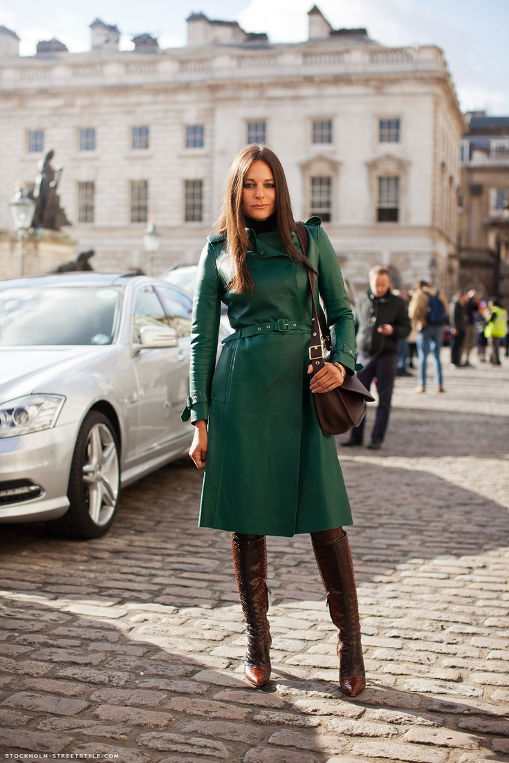 Green Valentino leather trench coat | Green without Envy | Pinterest