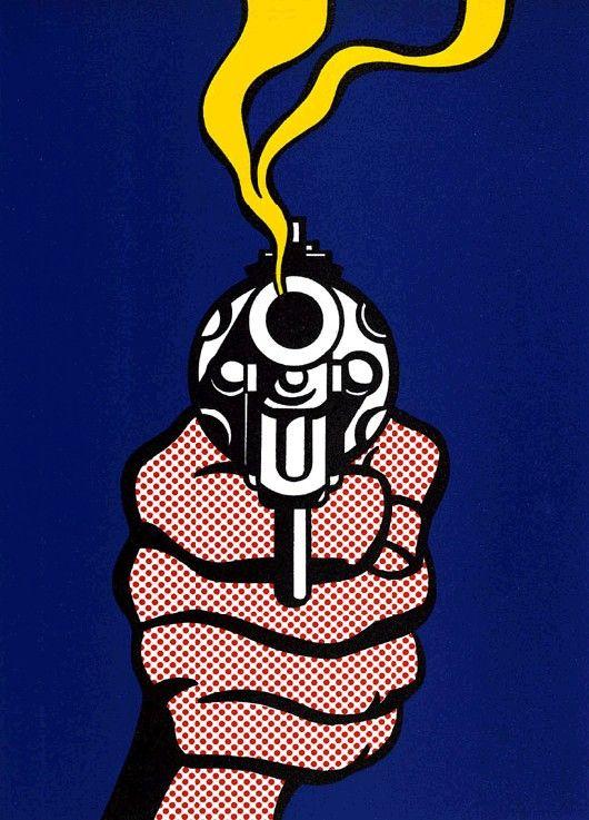 ROY LICHTENSTEIN http://www.widewalls.ch/artist/roy-lichtenstein/ #RoyFoxLichtenstein #RoyLichtenstein #popArt - The Gun in America (TIME Magazine Cover)