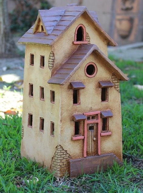 Clay House #12 by Harry Tanner. Illuminated ceramic sculpture