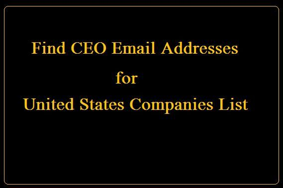 CEO Email Addresses for US Companies List #Email #Addresses