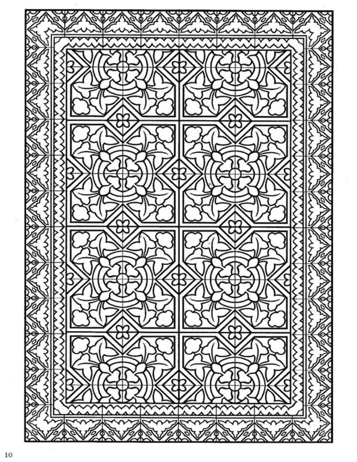 Dover Decorative Tile Coloring Book | Dover Coloring ... - photo#12