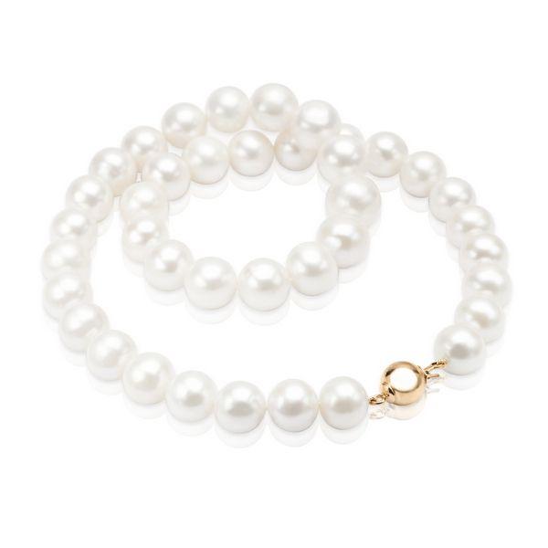 Naszyjnik ze złota i białych pereł - Biżuteria srebrna dla każdego tania w sklepie internetowym Silvea
