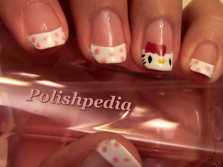 63 best beauty nail art hello kitty nails images on pinterest hello kitty nail art video tutorial by httppolishpedia prinsesfo Gallery