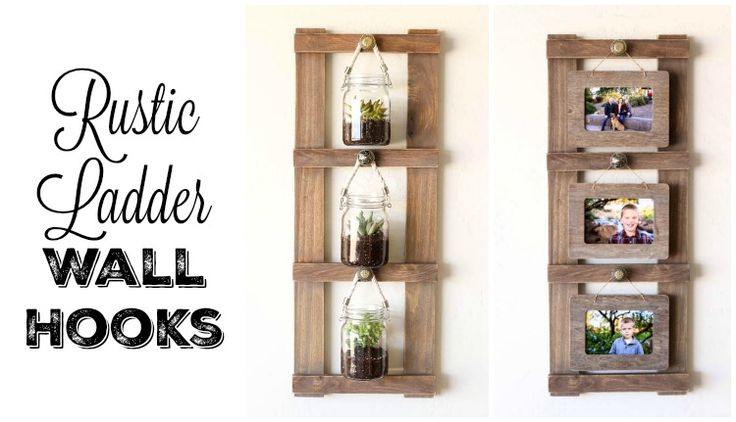 Build this simple multi-purpose ladder display to hang pictures, plans, or whatever you like! It's a perfect DIY gift idea!