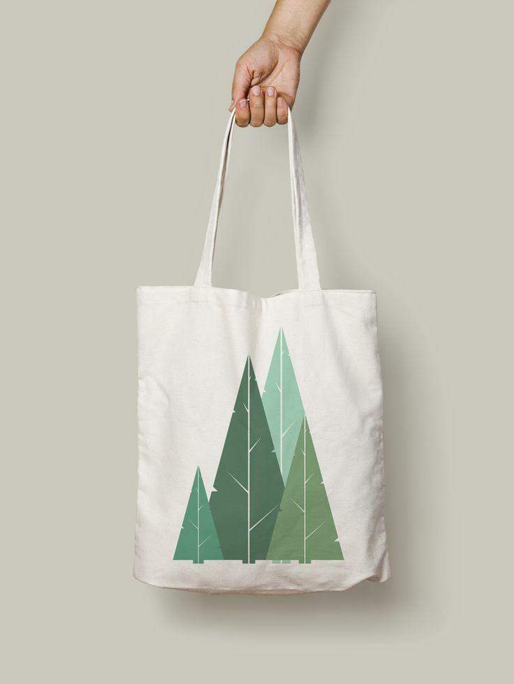Cypress Greens, Organic Tote bag. #organic #ethical #cypress #trees #minimal #nature #geometric #tote #bag #totebag #accesories #green