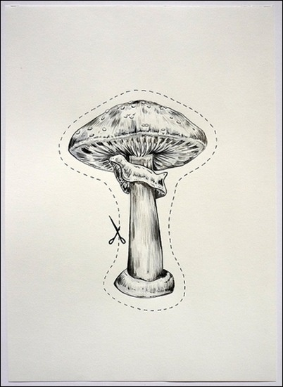 95 best mushrooms drawings images on pinterest fungi for Fairy on a mushroom drawing