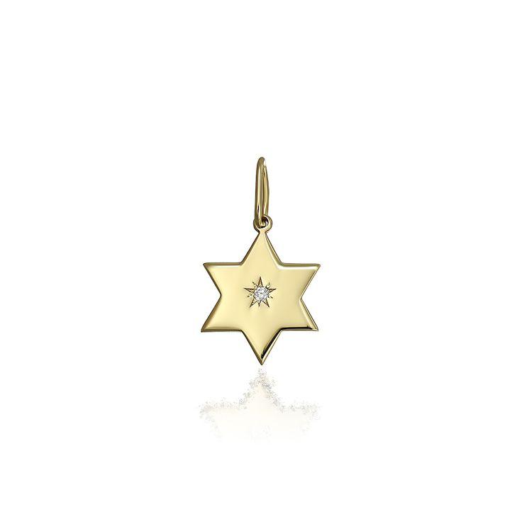 Pandantiv din aur steluta cu diamant. Pandantive aur din aur 14k, Pandantive aur din aur alb, Pandantive aur din aur roz, realizate de bijuteria Safir. Pentru mai multe detalii va rugam sa ne contactati.