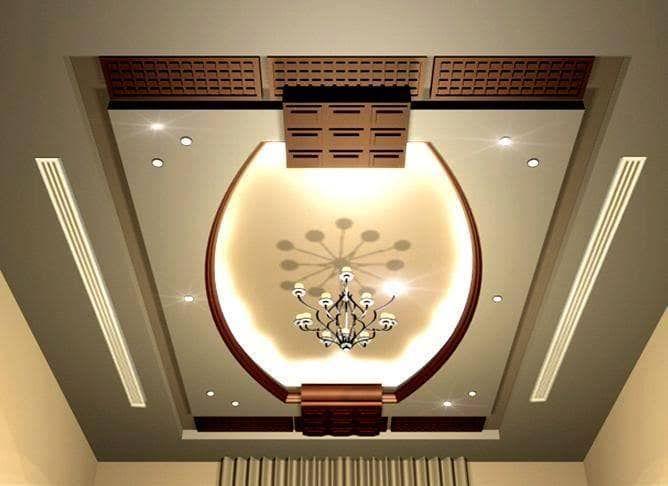صور ديكورات اسقف جبس بسيطة جزائرية اذا كنتم تريدون تزيين اسقف منازلكم بالجبس فستجدون في هذا Ceiling Design Drawing Room Ceiling Design House Ceiling Design