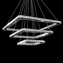 Free Shipping Modern Crystal Led Pendant lamps 3 Lights 90-260V 50+30+20 CM Dinning Living Room(China (Mainland))