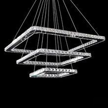 Free Shipping Modern Crystal Led Pendant lamps 3 Lights 90-260V 50+30+20 CM Dinning Living Room(China (Mainland))
