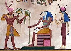 Peinture qui représente Osiris, Thot et Isis;   MCC PCD 2001-297-100