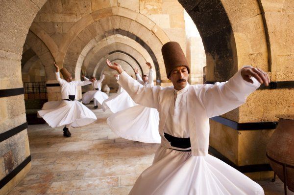 Whirling dervish Are follow Sufi faith. As they spin, they pray.