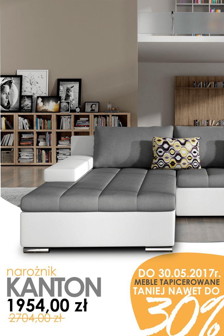 Corner sofa into the living room Kanton available in a range of colours only now - in super for minimum price! Check this out! Narożnik do salonu Kanton dostępny w różnych kolorach tylko teraz - w super niskiej cenie! Sprawdź! #cornersofa #livingroom #promotion #sale #lowprices #sweethome #mirjan24 #grey #sofa