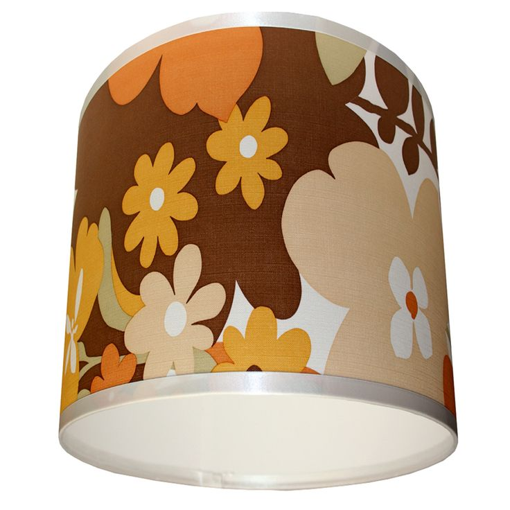 Vintage wallpaper lampshade Sunny Flowers
