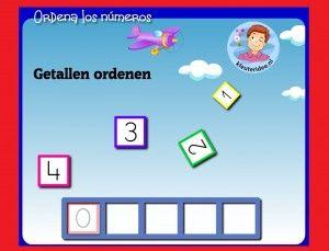 Goede volgorde getallen met kleuters op digibord of computer op kleuteridee,Kindergarten math game for IBW or computer