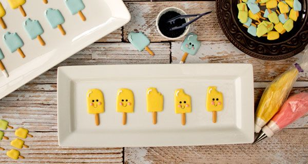 Popsicle Royal Icing Transfers & Templates - The Bearfoot Baker