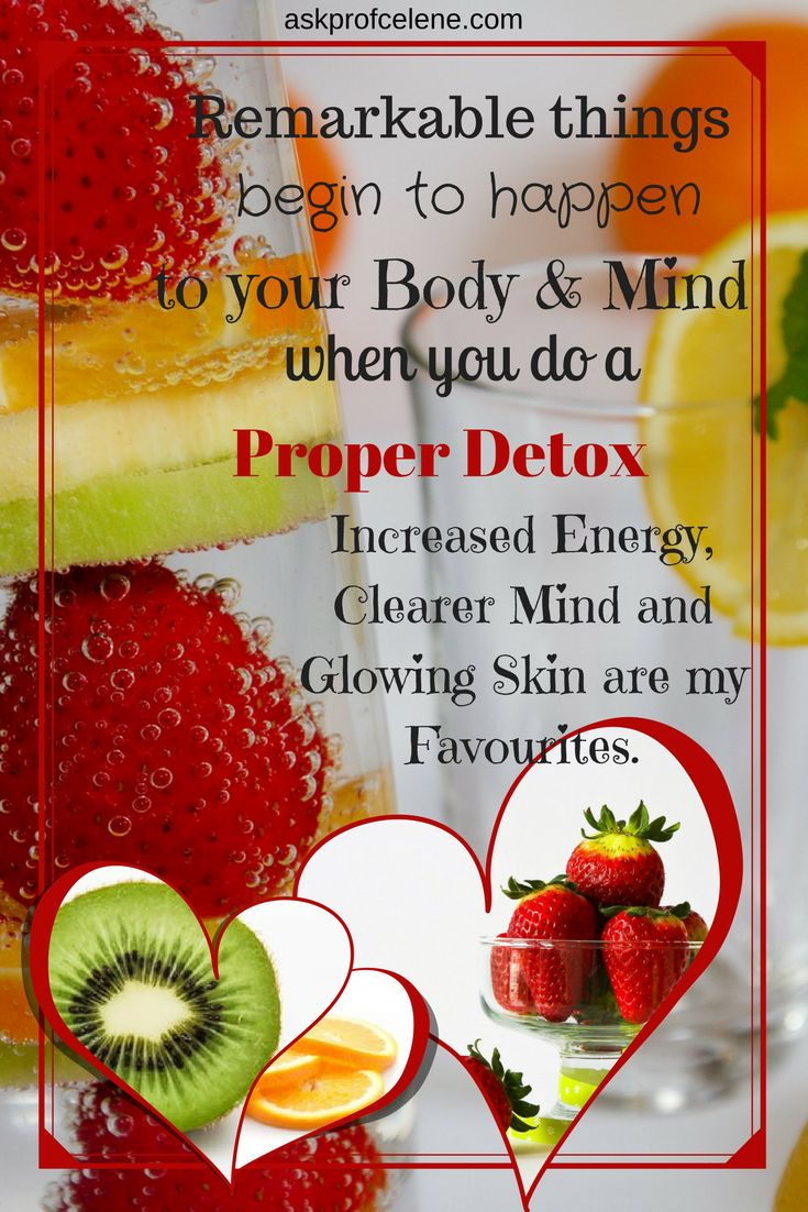 My article on Detoxing will have you convinced in no time to give it a try!
