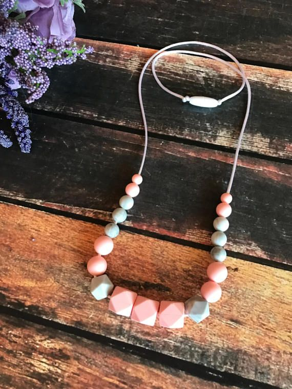 Teething Necklace  Nursing Necklace  Pendant Necklace