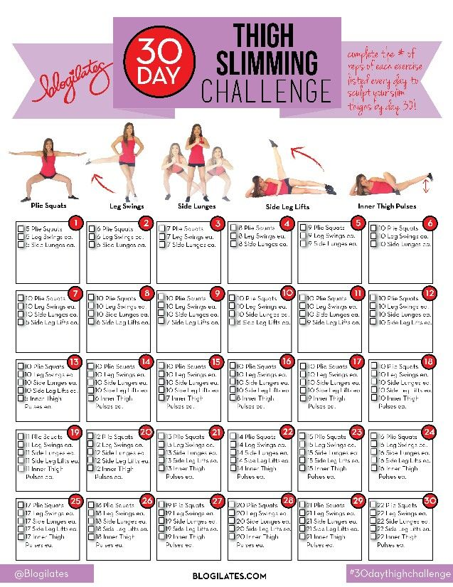 30 day thigh slimming plan!! She's amazing!! Check out more videos/plans at Blogilates.com or youtube!