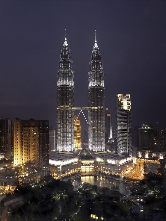 Twin Towers by night, Kuala Lumpur