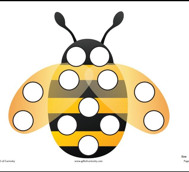 Bee dotter page  http://www.giftofcuriosity.com/downloads/Insect_Do-A-Dot_Printables.pdf