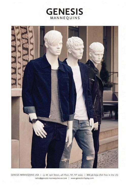 New Generation Male Collection in VMSD magazine | October 2015 | #vm #visualmerchandising #visualmerchandizing #mannequins #menswear