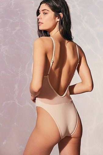 ¡Cómpralo ya!. Evil Twin Riley Beige Mesh Swimsuit - Womens S. Dare to bare in this mesh one-piece swimsuit from Evil Twin. Beige mesh upper in a bodycon fit and ultra-deep plunging voop-neckline. Topped with ultra-thin adjustable straps that lead to an open back. Features an opaque bikini bottoms inset. Cut ultra-high at the hip and finished with a cheeky bikini cut to the reverse. Partially lined.       THINGS TO KNOW:   - Mixed fibres   - Hand wash , bañador, bañadores, swimsuit, monok...