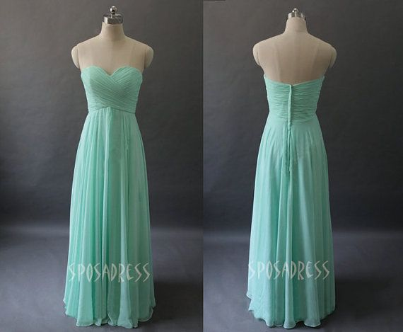 Mint bridesmaid dresses, wedding bridesmaid dress, long bridesmaid dress, chiffon bridesmaid dress, bridesmaid dress, RE81 on Etsy, $119.99.... This is exactly what I want!!!