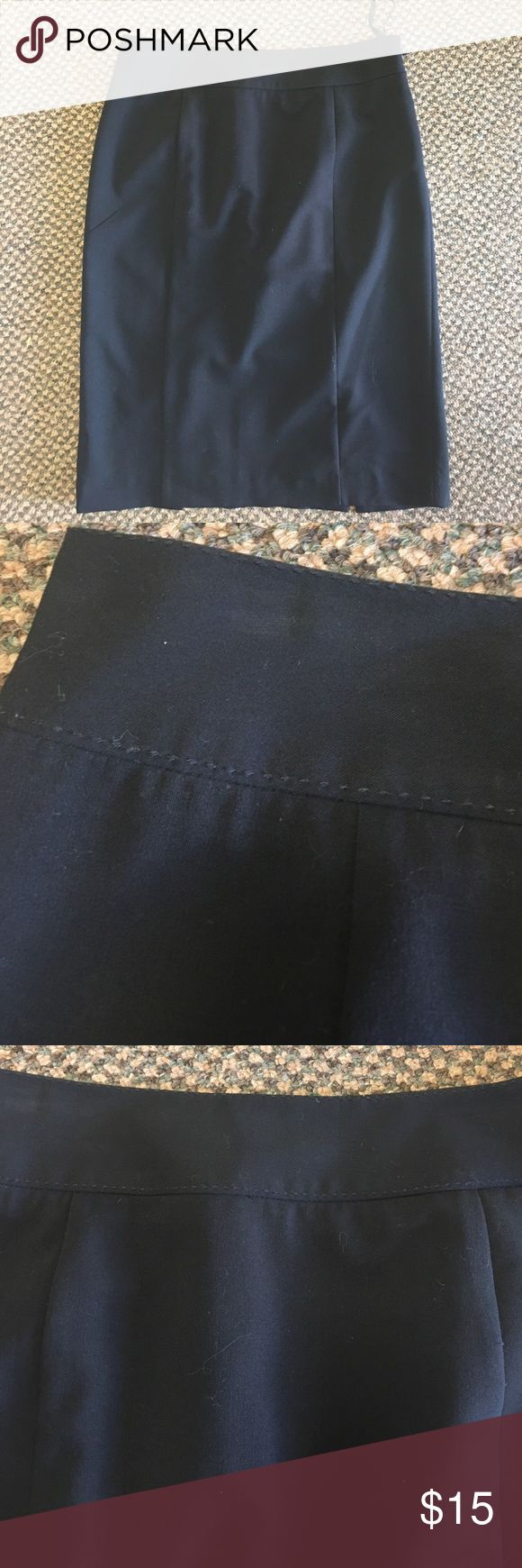 """INC Stretch Black Classic Pencil Skirt size 6 Fully lined. Two slits at back of knees/Sean's. Side zipper. Excellent condition with no damage. Topstitching at waistband. 30"""" waist 23"""" long38"""" hips. INC International Concepts Skirts Pencil"""