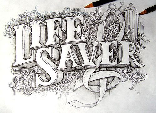 Illustration/Painting/Drawing inspiration #lettering #typography