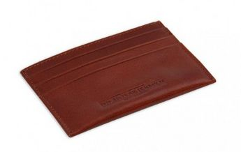 Nicholas Jermyn Father's Day Gifts - Mens Leather Card Holder - Cognac, $49