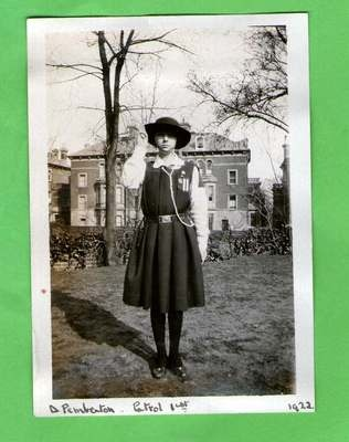 ORIGINAL PHOTO not PC. Girl Guide D Pemberton. St Leonards College, Sussex. 1922 | eBay