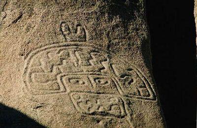 Petroglifos en Valle del Encanto, cerca de Ovalle, en la Región de Coquimbo. Chile cultura.