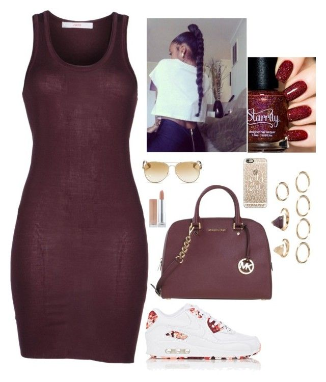 """""""Untitled #219"""" by nun-for-free ❤ liked on Polyvore featuring jucca, NIKE, MICHAEL Michael Kors, Michael Kors, Casetify and Forever 21"""