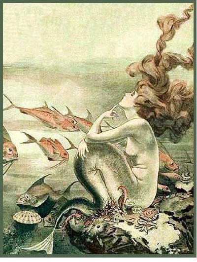 brown haired mermaid